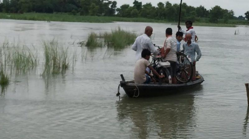 गोपालगंज में तटबंधो के अन्दर बसे गांवो में लगातार फ़ैल रहा है गंडक का पानी, आम आदमी परेशां